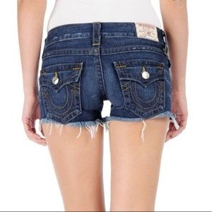 True Religion Keira Cutoff Shorts Sz 28